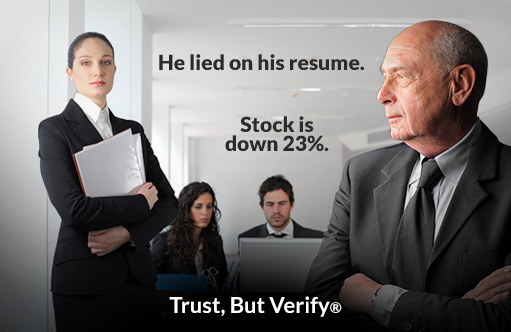 He lied on his resume. Stock is down 23%. - Owens OnLine® Trust, But Verify®